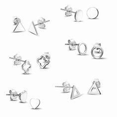 Christmas Gifts! Gerhodineerd zilveren minimal oorknopjes. #christmas #gifts #christmasgiftsideas #jewelry #fashionjewelry #jewelryaddict