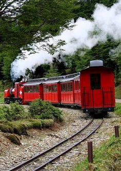 The World's End Train, Ushuaia (Patagonia), Argentina. El tren del Fin del Mundo