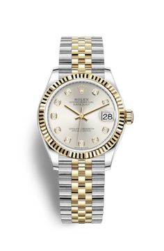 Rolex Datejust 31 Watch: Yellow Rolesor - combination of Oystersteel and 18 ct yellow gold - Rolex Datejust 31 Watch: Yellow Rolesor - combination of Oystersteel and 18 ct yellow gold - Luxury Watches, Rolex Watches, Watches For Men, Girl Watches, Diamond Watches, Rolex Datejust, Rolex Modelle, Cartier Rolex, Rolex Bracelet