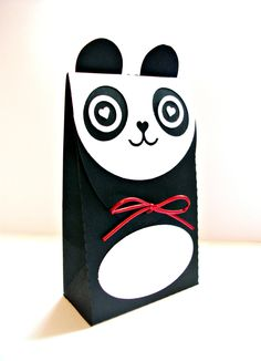 Cute Panda Gift Box / Gift Bag - Choose Your Color by ChibiChiDesigns on Etsy https://www.etsy.com/listing/122631946/cute-panda-gift-box-gift-bag-choose-your