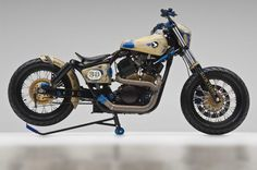 This is an amazing racing bobber motorcycle that has an amazing turn your head look to it. Do not miss this bobber motorcycle today.