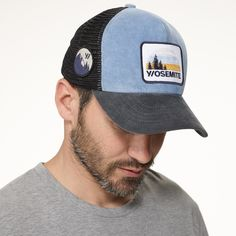 Abyss Blue Corduroy Trucker Hat from James Perse
