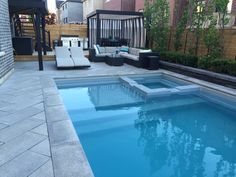 """How can you make everyone happy? At Leisure Pools, we call it """"The Ultimate. Small Backyard Pools, Backyard Pool Landscaping, Backyard Pool Designs, Small Pools, Swimming Pools Backyard, Swimming Pool Designs, Outdoor Pool, Pool Spa, My Pool"""
