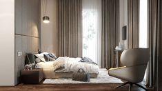 "Apartament 3 camere - Complex ""Nordis"" București - Creativ-Interior Interior, Minimalism, Bedrooms, Curtains, Urban, Modern, Design, Home Decor, Blinds"