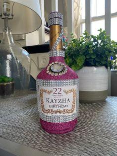 Fiesta Theme Party, Party Themes, Hennessy Bottle, Decorated Liquor Bottles, Bling Bottles, Crown Bottle, Custom Wine Bottles, Christmas Gift Exchange, Storybook Wedding