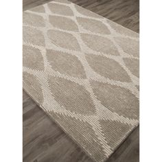 Hand-Tufted Geometric Pattern Ivory/Ivory (8' x 10') AreaRug - Overstock™ Shopping - Great Deals on Jaipur 7x9 - 10x14 Rugs