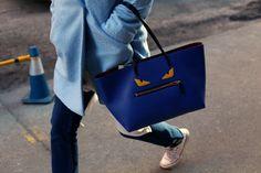 Fendi Buggies tote. Photo: Angela Datre/Fashionista