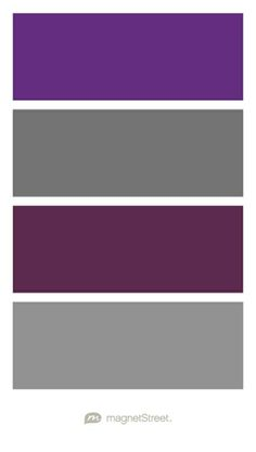 Plum, Charcoal, Eggplant, and Classic Gray Wedding Color Palette - custom color palette created at MagnetStreet.com