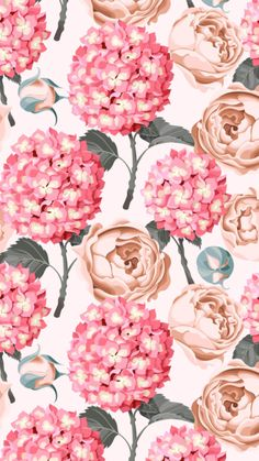 Flowery Wallpaper, More Wallpaper, Pattern Wallpaper, Flower Backgrounds, Wallpaper Backgrounds, Iphone Wallpaper, Wall Paper Phone, Popular Art, Plant Illustration