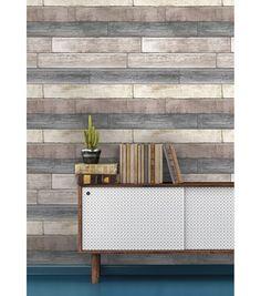 WallPops® NuWallpaper™ Reclaimed Plank Wood Peel & Stick Wallpaper | Online Only Product