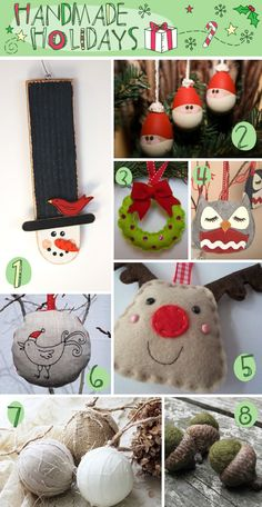 Handmade Christmas Ornaments diy-easy-tips Noel Christmas, Primitive Christmas, Homemade Christmas, Winter Christmas, Handmade Ornaments, Diy Christmas Ornaments, Christmas Decorations, Felt Ornaments, Handmade Items