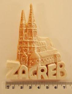 Fridge Magnets Souvenir Zagreb CASTEL Winter Castle Made of Artificial Marble Handmade image 2