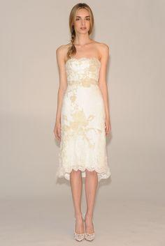 Vestido de novia corto de Marchesa Bridal (FW 2014) #weddingdresses #NYBW