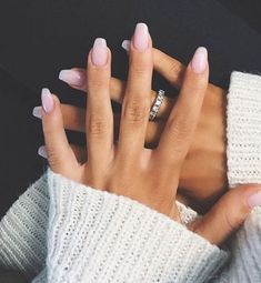 11 Trendy Easy Nail Art Ideas: #7. Pale Pink to White Ombre