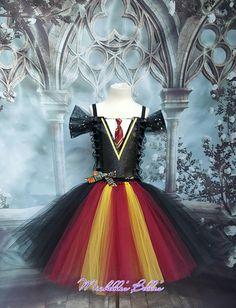 Harry potter Hermione Gryffindor school girl style tutu dress by MichellesBellesTutu on Etsy https://www.etsy.com/ca/listing/530976727/harry-potter-hermione-gryffindor-school