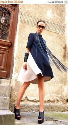 SALE New Collection Sexy Little Navy/ Ivory Dress / Doll