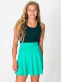 Promotional Products Ideas That Work: Youth cotton spandex jersey high-waist skirt. Made in USA. Get yours at www.luscangroup.com