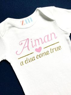Salaam im new here muslim baby onesie by jasminedew on etsy personalized name shine like a star bodysuit homecoming take home outfit custom shirt negle Choice Image