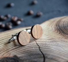 Minimalist Rustic Mens Wooden Cufflinks Personalized Custom cuff links Wedding Groom Cufflinks Mens Jewelry Accessories Gift for Him Dad