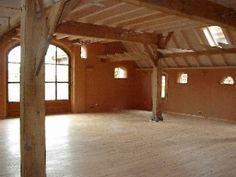 Afbeeldingsresultaat voor lemen wand in huis