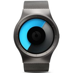 Ziiiro Celeste Gunmetal Mono Watch - Cool Watches from Watch... - Polyvore