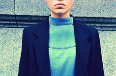 Denim #StreetStyle #JohanssonSisters #IN2ITIONSTYLE Looks Street Style, James Dean, Blue Jeans, Blazer, Denim, Jackets, Women, Fashion, Down Jackets