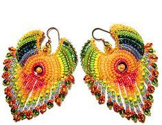 Beaded Earrings  #beadwork