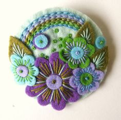 'OVER THE RAINBOW' FELT BROOCH by APPLIQUE-designedbyjane, via Flickr