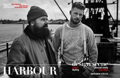 """design scene - """"HARBOUR"""" is Design Scene's latest menswear exclusive that pays homage to the timeless and rugged style of fishermen. Rugged Style, Ben Affleck, Rook, Mans World, Fashion Shoot, Bearded Men, Editorial, Hipster, Scene"""