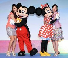 With Mai Asada. They are Disney on Ice Special supporter.