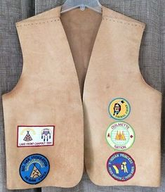 Red Cotton Polyester Twill Patch Vest YMCA Guides Cub Scout Award Club