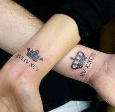 My husband and I already have matching tattoos....but so want to do this, on our wrists! LOVE IT!