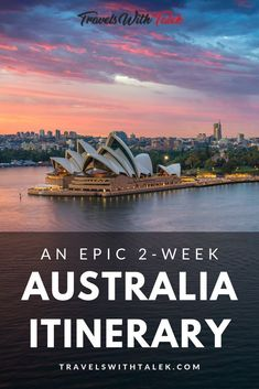 I put together a 2-week Australia itinerary jam-packed with places to see and things to do. This Australia travel guide will take you on a journey you won't soon forget. Travel to Sydney, Melbourne, and Tasmania. Drive down the Great Ocean Road for an epic Australia road trip. Learn some valuable Australia travel tips. #australia #australiaitinerary #sydney #melbourne #tasmania #australiatravel #traveldestinations #travel