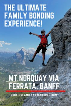 Mount Norquay Via Ferrata Family Tour Banff, Alberta, Canada Canadian Travel, Canadian Rockies, Banff Alberta, Alberta Canada, Family Vacations, Family Travel, Family Adventure, Adventure Travel, Canada Tourism