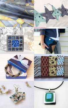 Blue Christmas!  An Etsy treasury with a soft, blue mood. --Pinned with TreasuryPin.com