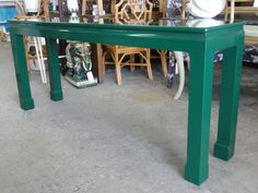 Emerald Lacquered Ming Style Console