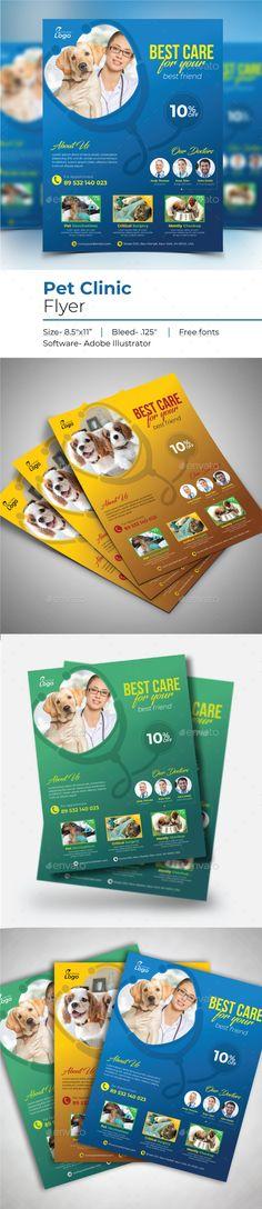 #Pet Clinic Flyer Free Flyer Templates, Print Templates, Flyer Size, Pet Clinic, Flyer Printing, Buy Pets, Graphic Design Print, Pet Shop, Pet Care
