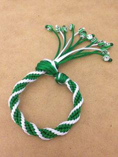 Kumihimo spiral bracelet with beads. $10.00, via Etsy.