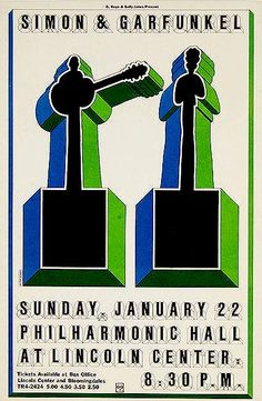 Milton Glaser - Simon & Garfunkel poster, 1967. Three of my favorite artists ever