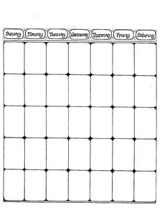 Free Printable Blank Monthly Calendar  Planner For Junk Journals