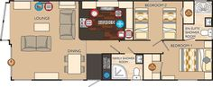 Boston Series 3 40 x 16 2 bed sleeps 4 floor plan