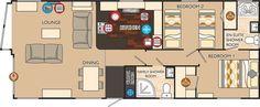 Boston Series 3 40 x 16 2bed sleeps4 floor plan