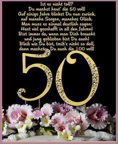 Lustige Spruche Und Schone Gluckwunsche Zum 50 Geburtstag