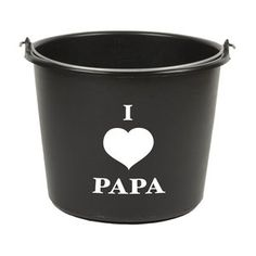 I Love Papa emmer, zwart, 12 liter Vader, Silhouette Cameo, Love, Amor, Silhouette Cameo Projects