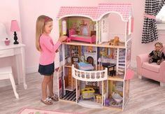 Buy KidKraft - Magnolia Mansion Dollhouse at Mighty Ape NZ. The Magnolia Mansion dollhouse is like something out of a fairy tale, complete with elegant artwork and old-fashioned furniture pieces Includes 13 . Dollhouse Toys, Wooden Dollhouse, Wooden Dolls, Dollhouse Miniatures, Magnolia, Barbie Doll House, Barbie Dolls, Doll Furniture, Dollhouse Furniture