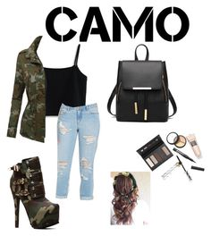 """""""Untitled #53"""" by missroweowens on Polyvore featuring Chicwish, LE3NO, Forever 21, Borghese, New Look and camostyle"""