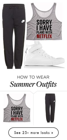 """Untitled #71"" by hallieleandra on Polyvore featuring Converse and NIKE"