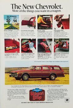 1978 Chevrolet Caprice Classic Station Wagon Automobile Vintage Ad