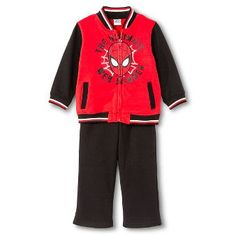 Toddler Boys' Spiderman Top And Bottom Set - Red