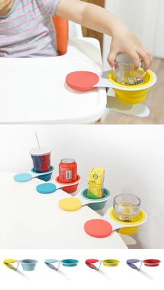 The Exclamation Cup Holder prevents such unforeseen disasters from occurring in the first place. #Cup #Design #Holder #Kids #YankoDesign #Parenting